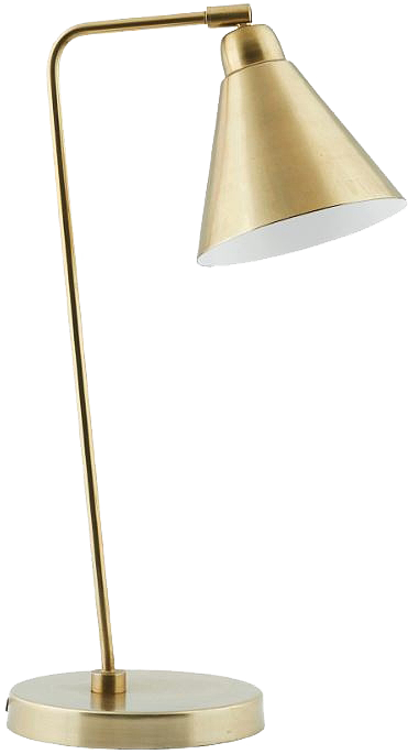 Table lamp GAME, brass/white, h: 50cm